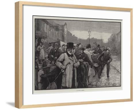 A Country Market--Framed Art Print
