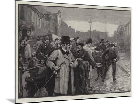 A Country Market--Mounted Giclee Print
