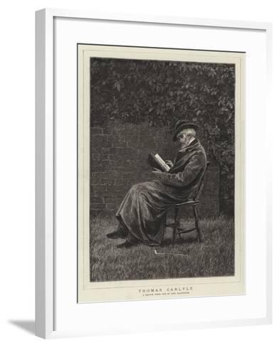 Thomas Carlyle--Framed Art Print