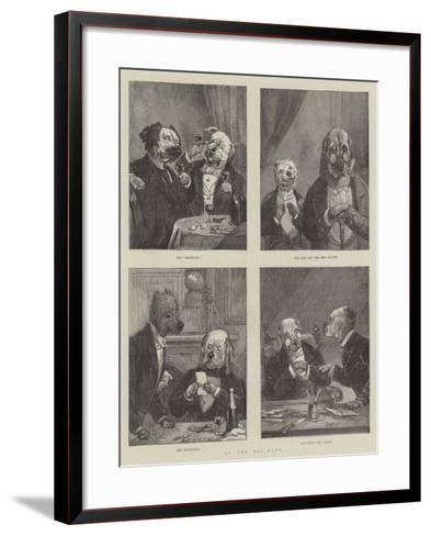 In the Dog-Days--Framed Art Print