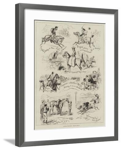 Amateur Racing--Framed Art Print