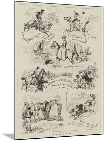 Amateur Racing--Mounted Giclee Print