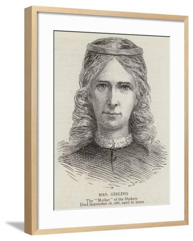 Mrs Girling--Framed Art Print