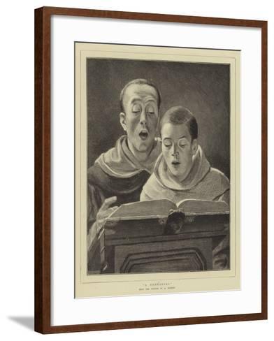 A Rehearsal--Framed Art Print