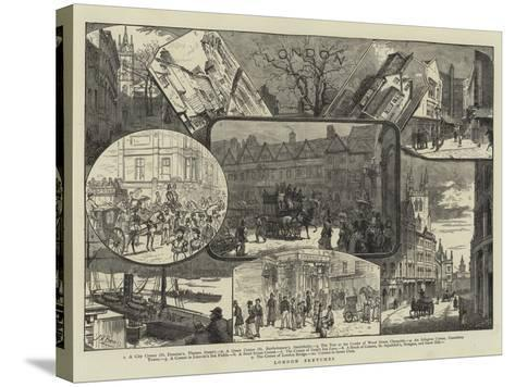 London Sketches--Stretched Canvas Print