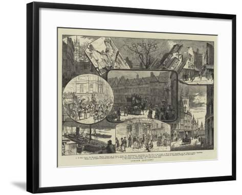 London Sketches--Framed Art Print