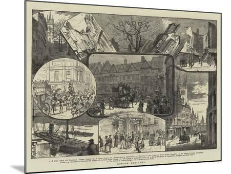 London Sketches--Mounted Giclee Print