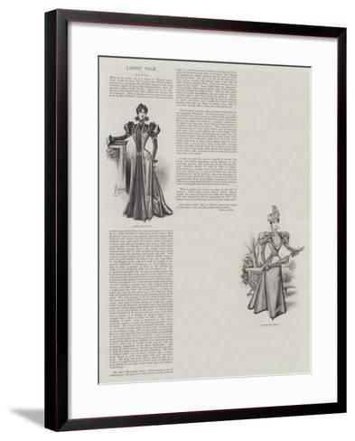 Ladies' Page--Framed Art Print