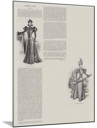 Ladies' Page--Mounted Giclee Print