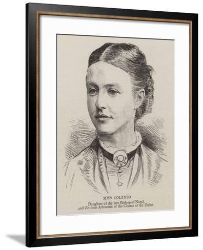 Miss Colenso--Framed Art Print