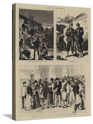 Scenes in Paris--Stretched Canvas Print