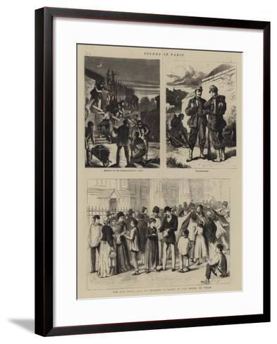 Scenes in Paris--Framed Art Print