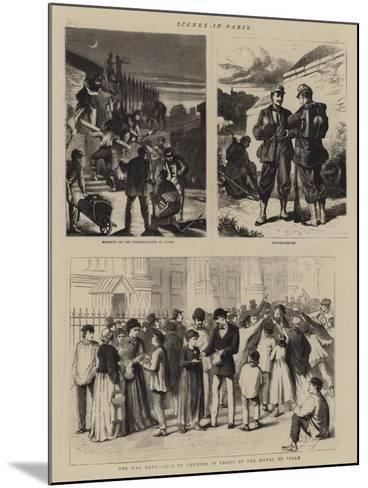 Scenes in Paris--Mounted Giclee Print