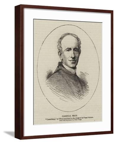 Cardinal Pecci--Framed Art Print