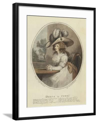 Delia in Town--Framed Art Print