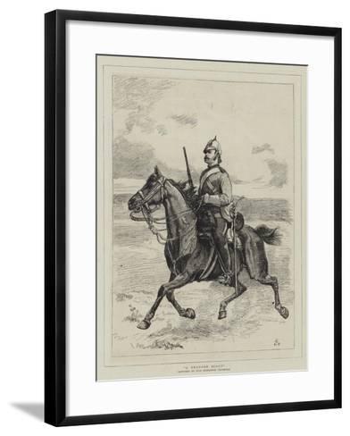 A Dragoon Scout--Framed Art Print