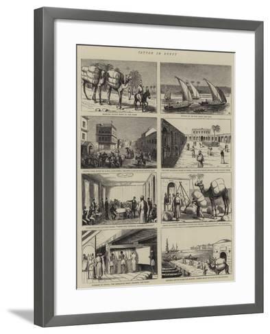 Cotton in Egypt--Framed Art Print