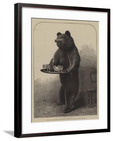 A Dumb Waiter--Framed Art Print