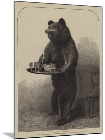 A Dumb Waiter--Mounted Giclee Print