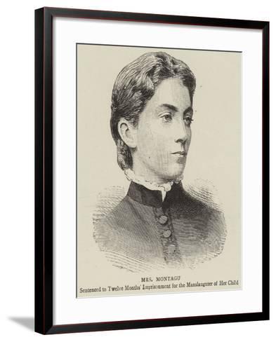 Mrs Montagu--Framed Art Print
