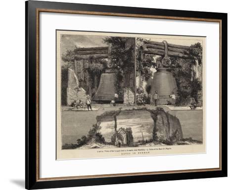 Notes in Burmah--Framed Art Print