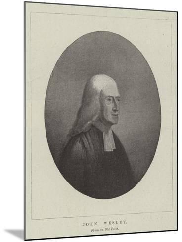 John Wesley--Mounted Giclee Print