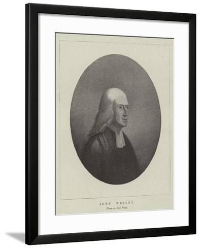 John Wesley--Framed Art Print