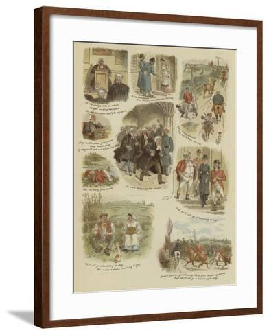 The Hunting Day--Framed Art Print