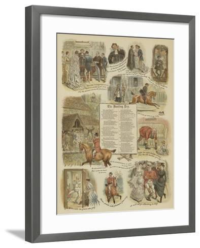 The Hunting Day--Framed Art Print