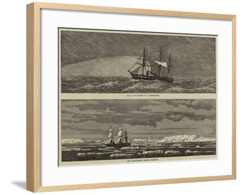 HMS Challenger--Framed Art Print