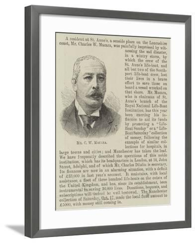 Mr C W Macara--Framed Art Print