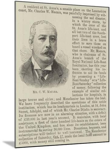 Mr C W Macara--Mounted Giclee Print