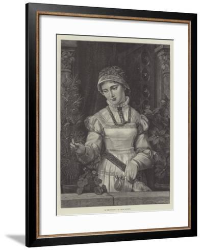 At the Window--Framed Art Print