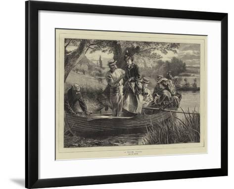 A Water Party--Framed Art Print