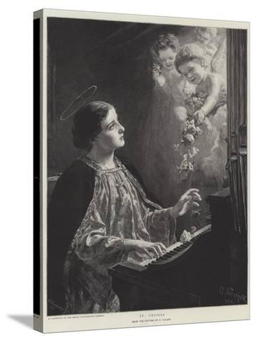 St Cecilia--Stretched Canvas Print