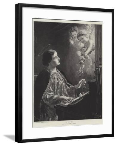 St Cecilia--Framed Art Print