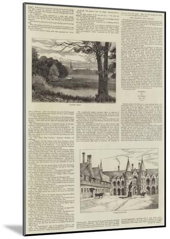 Eaton Hall--Mounted Giclee Print