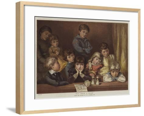 But Once a Year--Framed Art Print