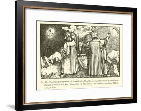 The Planetary Systems--Framed Art Print
