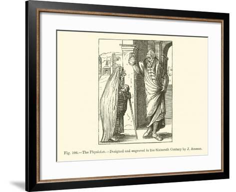 The Physician--Framed Art Print