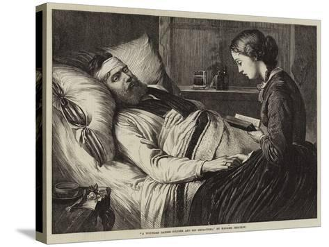 A Wounded Danish Soldier and His Betrothed--Stretched Canvas Print