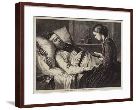 A Wounded Danish Soldier and His Betrothed--Framed Art Print