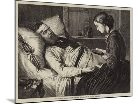 A Wounded Danish Soldier and His Betrothed--Mounted Giclee Print