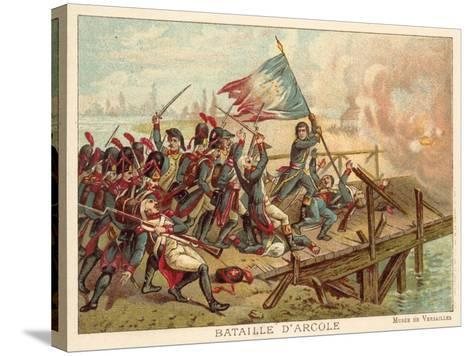 Battle of the Bridge of Arcole, Italy, 1796--Stretched Canvas Print