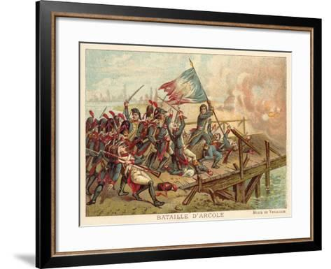Battle of the Bridge of Arcole, Italy, 1796--Framed Art Print