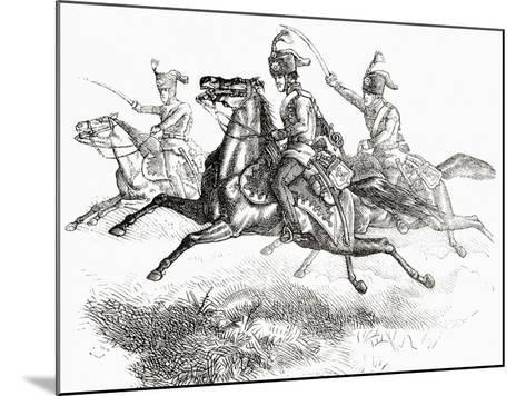 Charging Hussars or Hussards, from 'L'Univers Illustré', 1866--Mounted Giclee Print