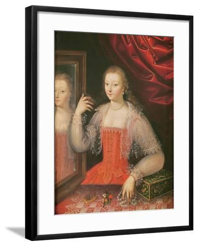 Portrait of a Woman--Framed Art Print