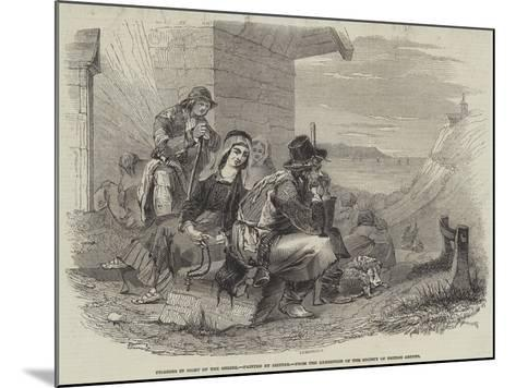 Pilgrims in Sight of the Shrine--Mounted Giclee Print