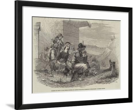 Pilgrims in Sight of the Shrine--Framed Art Print