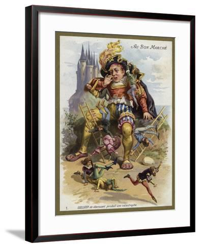 Gulliver Sneezes and Causes a Catastrophe--Framed Art Print